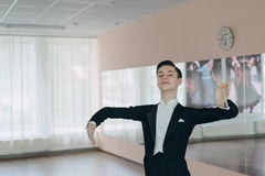 Professional dancer trained at the mirror Royalty Free Stock Image