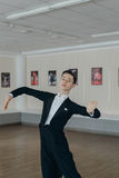 Professional dancer trained at the mirror Stock Photo