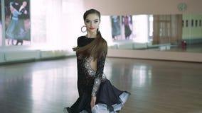 Professional dancers dancing in ballroom. Latin. 4k stock video footage