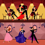 Professional Dancers Horizontal Banners Stock Images
