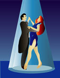 Professional Dancing couple Royalty Free Stock Images