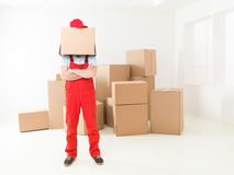Professional delivery man Stock Image