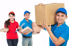 Professional delivery services royalty free stock photography