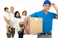 Professional delivery services royalty free stock photos