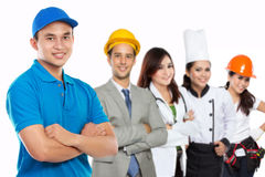 Professional delivery services Stock Photo