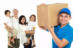 Professional delivery services for your family Stock Photos