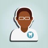 Professional dentist design Royalty Free Stock Image