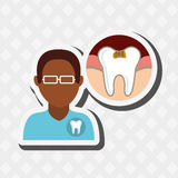 Professional dentist design. Illustration eps10 graphic Stock Image