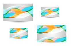 Professional and designer business card Stock Image