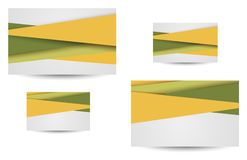 Professional and designer business card Stock Images