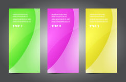 Professional and designer cards. Variety of uses, collection vector of modern color business templates card Royalty Free Stock Photos