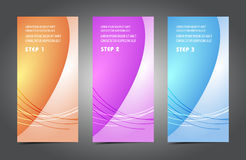 Professional and designer colorful cards. Variety of uses, collection vector of modern color business templates card Royalty Free Stock Image