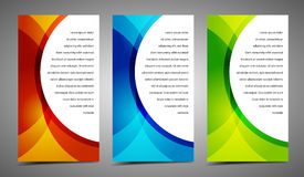 Professional and designer modern cards Royalty Free Stock Images