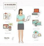 Professional developer vector illustration