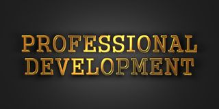 Professional Development. Business Concept. Professional Development. Gold Text on Dark Background. Business Concept. 3D Render Royalty Free Stock Images