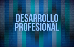 Professional development concept in spanish Royalty Free Stock Image