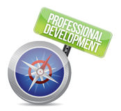 Professional development Glossy Compass Royalty Free Stock Photos