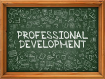 Professional Development - Hand Drawn on Green Chalkboard. Royalty Free Stock Images