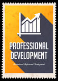 Professional Development on Yellow in Flat Design. royalty free illustration