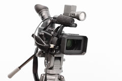 Professional digital camcorder. On a white background isolated Royalty Free Stock Photos