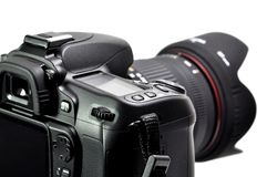 Professional digital camera Royalty Free Stock Images