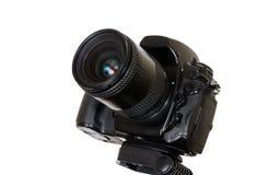 Professional digital camera isolated on white background Stock Photography