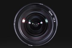 Professional digital camera lens with dark background royalty free stock photos