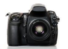 Professional digital camera  on white background Stock Photo