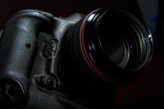 Professional Digital DSLR photo camera Royalty Free Stock Photography