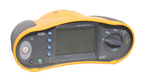 Professional digital multimeter. On isolated background stock photography