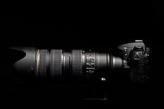Professional digital photo camera Stock Image