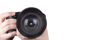 Professional digital photo camera isolated Stock Images