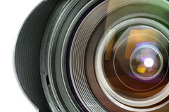 Professional Digital Photo Camera Lens Stock Photo