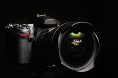 Professional digital photo camera Royalty Free Stock Photos