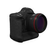 Professional Digital SLR Camera. On white background. 3D render Royalty Free Stock Photography
