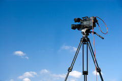 Professional digital video camera Royalty Free Stock Image