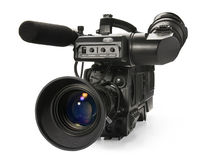 Professional digital video camera. Royalty Free Stock Photography