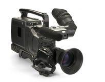 Professional digital video camera. Professional digital video camera, isolated on white background Stock Image
