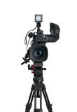 Professional digital video camera. Professional digital video camera, isolated on white background Royalty Free Stock Images