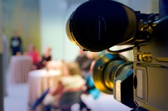 Professional digital video camera. Shoots the TV show stock photography