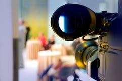 Professional digital video camera. Shoots the TV show stock photos