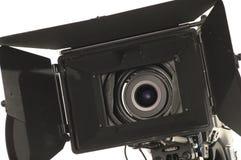 Professional digital video camera. Professional digital video camera on a white background Royalty Free Stock Photo