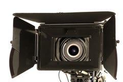 Professional digital video camera. Professional digital video camera on a white background Stock Photo