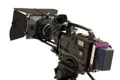 Professional digital video camera. Professional digital video camera on a white background Stock Photography