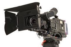 Professional digital video camera. Professional digital video camera on a white background Royalty Free Stock Photos