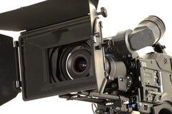 Professional digital video camera. Professional digital video camera on a white background Stock Image