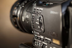 Professional digital video camera. Stock Photos