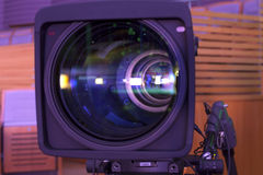 Professional digital video camera. accessories for 4k video cameras. Stock Image