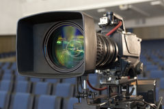Professional digital video camera. accessories for 4k video cameras. Royalty Free Stock Photos