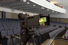 Professional digital video camera. accessories for 4k video cameras. Royalty Free Stock Image